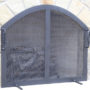 custom-fabricated-welded-curved-top-fireplace-screen